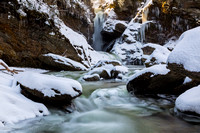 Waterfall in winter time 2